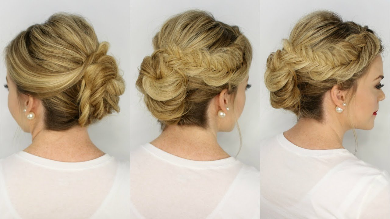 Well Known Fishtail Braid Updo Hairstyles Regarding Inverted Fishtail Braid Updo (View 20 of 20)