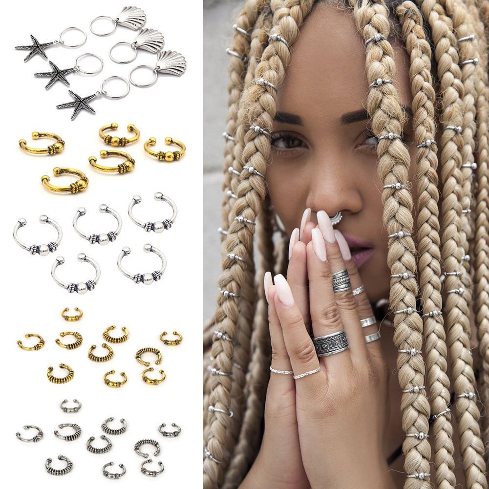 Well Known Gold Toned Skull Cap Braided Hairstyles For Reggae Club Hair Clips Dreadlocks Locs Opened Ring Hairstyle Weave Plaits Diy Accessory For African Hair Clip (View 16 of 20)