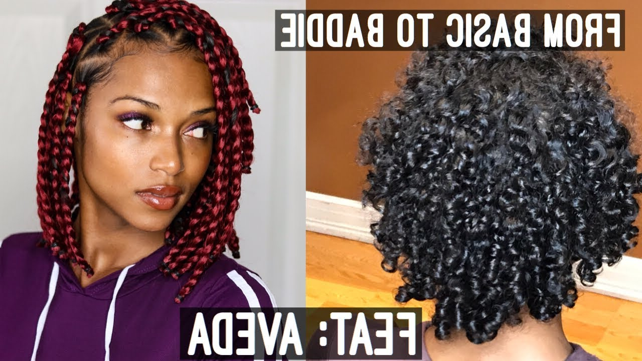 Well Known Half Up Box Bob Braid Hairstyles Within 23 Short Box Braid Hairstyles Perfect For Warm Weather (View 19 of 20)