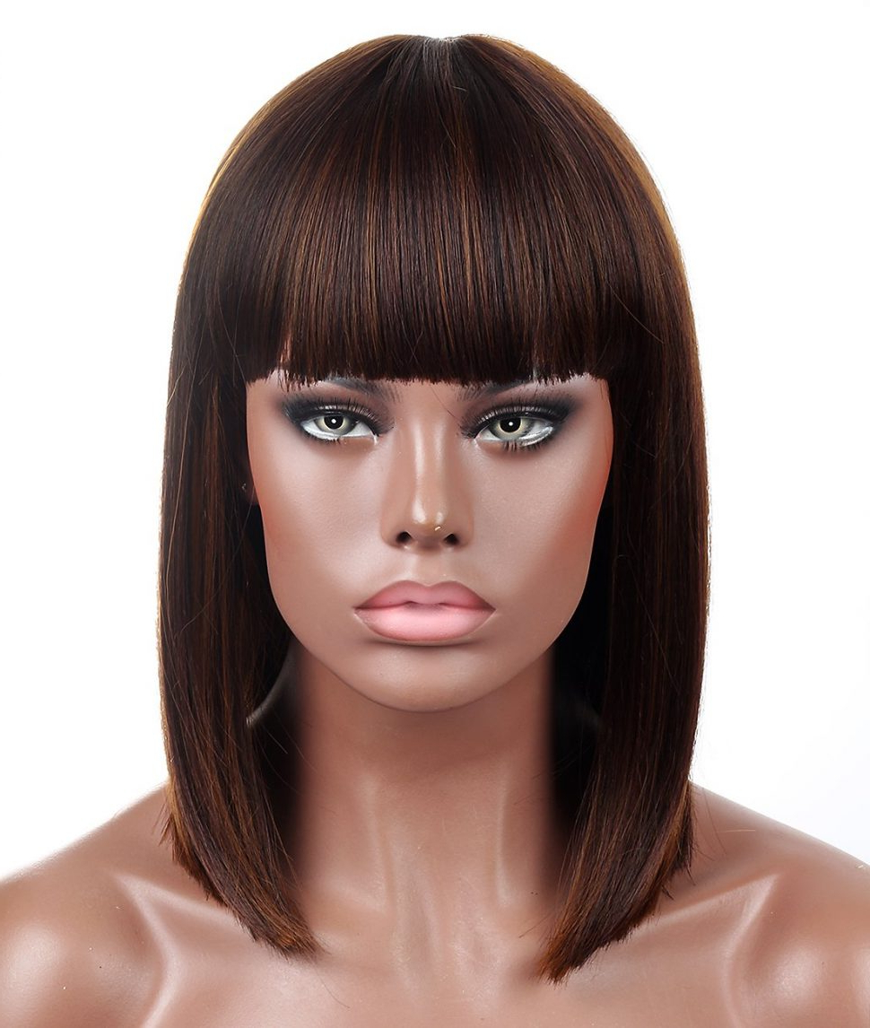 Well Known Layered Bob Braid Hairstyles Inside Hairstyles : Com Kalyss Bob Short Hair Wig For Black Women (Gallery 16 of 20)