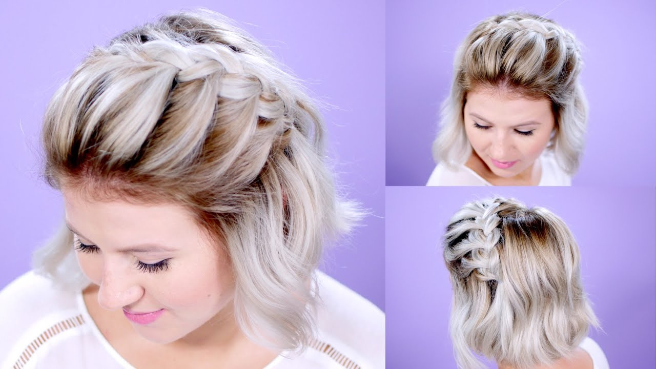 Well Known Long And Short Bob Braid Hairstyles With How To French Braid Short Hair Tutorial (Gallery 12 of 20)