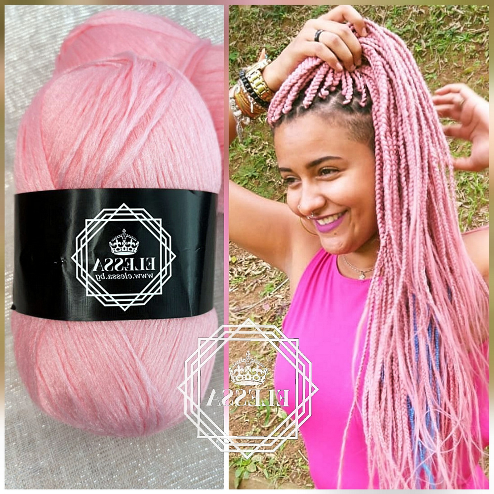 Well Known Long Braids With Blue And Pink Yarn For Brazilian Yarn For Braids High Quality Acrylic Wool For Hair (Gallery 20 of 20)