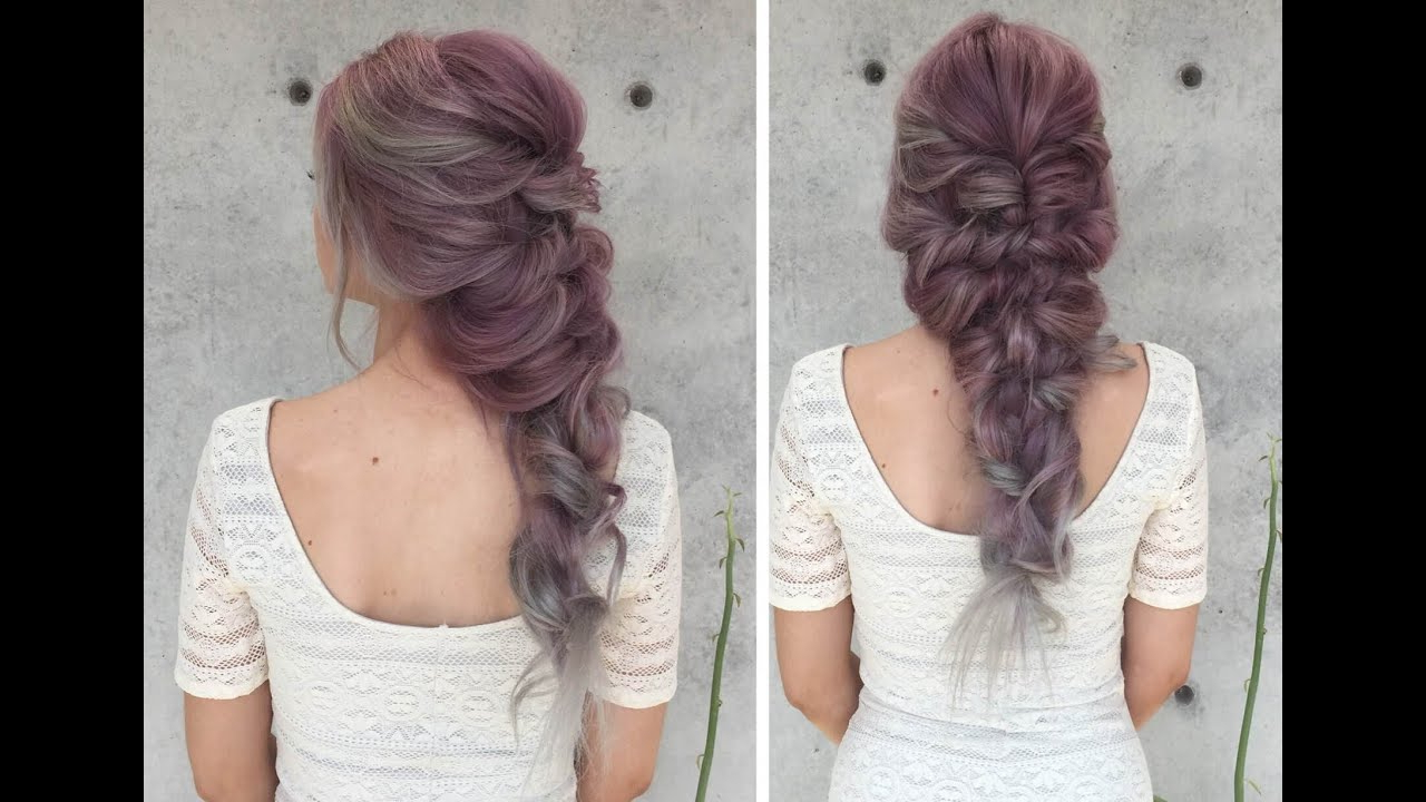 Well Known Mermaid Braid Hairstyles With A Fishtail Within Mermaid Curly Hairstyle How To (View 17 of 20)