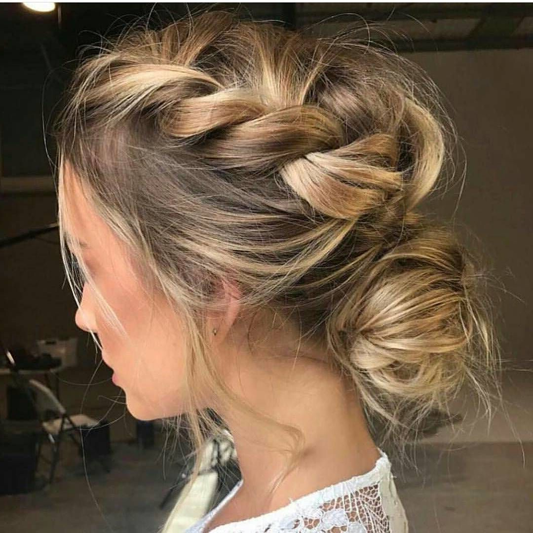 Well Known Messy Crown Braid Updo Hairstyles With Updo Hairstyles To Try This Summer – 14 Different Hair Buns (View 12 of 20)