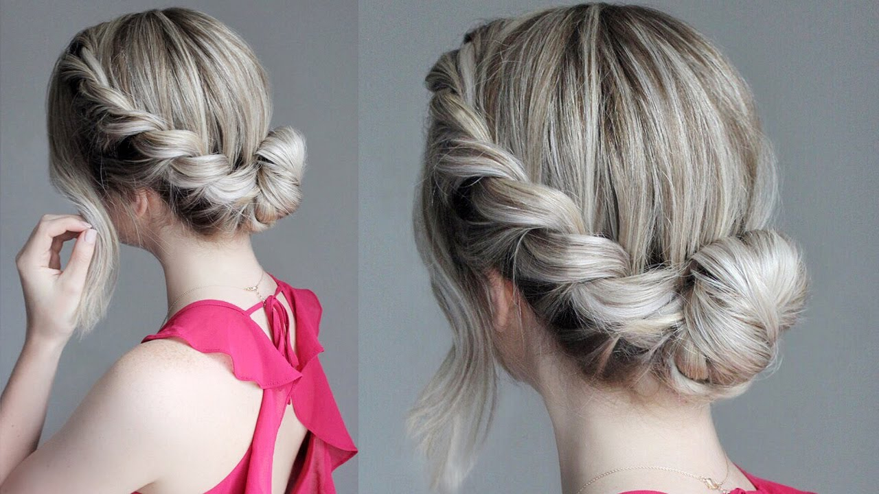 Featured Photo of Messy Rope Braid Updo Hairstyles