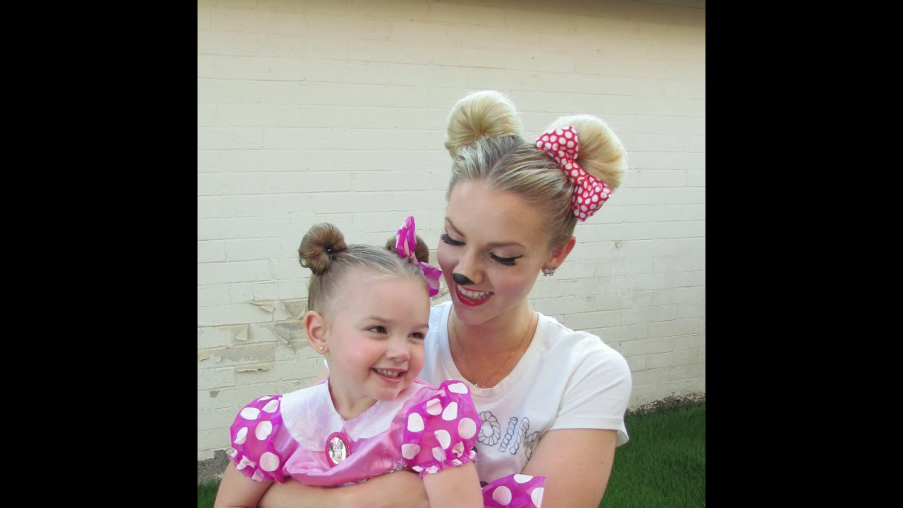 Well Known Minnie Mouse Buns Braid Hairstyles Regarding How To: Minnie Mouse Hair For Halloween And/or Disneyland (Disney) (Gallery 20 of 20)