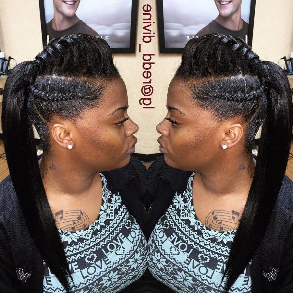 Featured Photo of Mohawk Under Braid Hairstyles