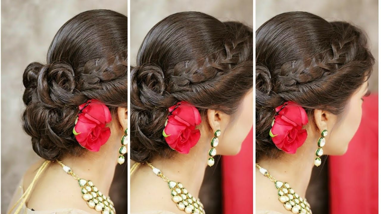 Well Known Pearl Bun Updo Hairstyles Throughout Latest Big Bun With Flowers, And Pearl (View 18 of 20)