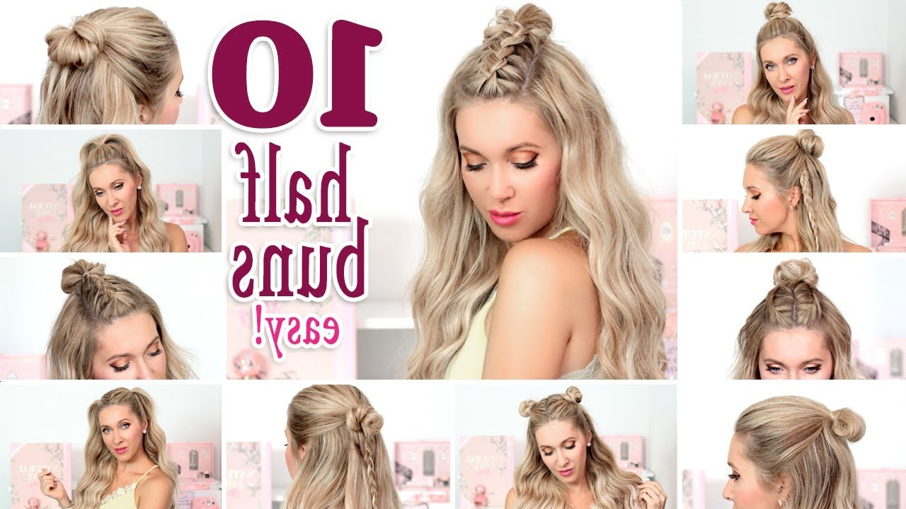 Well Known Simple Half Bun Hairstyles Pertaining To 10 Messy Half Buns For Back To School, Everyday, Party ❤ Quick And Easy Hair Tutorial (Gallery 3 of 20)