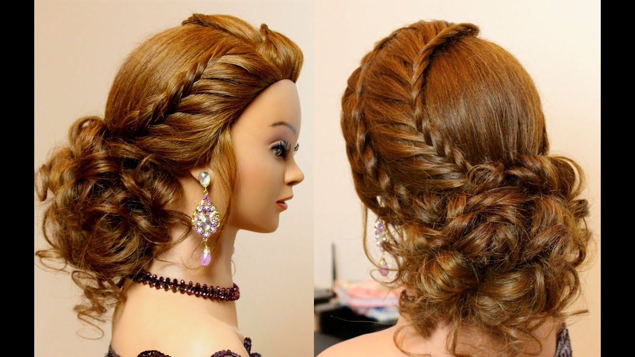 Well Known Thick And Luscious Braid Hairstyles Intended For Hairstyle For Long Hair Tutorial Cute Prom Updo With Braids (View 20 of 20)