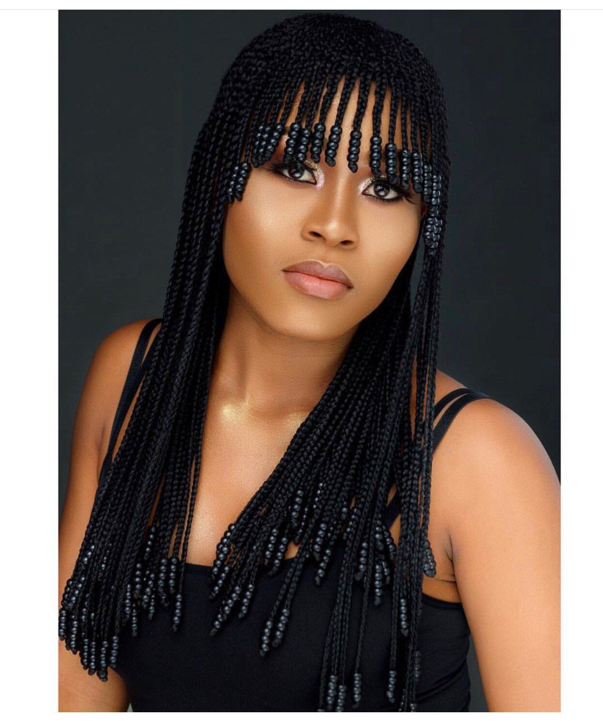 Well Liked Beaded Bangs Braided Hairstyles Inside Pin On Hair Styles (Gallery 3 of 20)