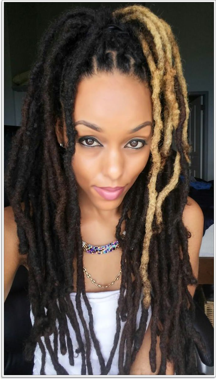 [%Well Liked Blonde Faux Locs Hairstyles With Braided Crown Regarding 118 Fascinating Faux Locs Hairstyles [Styles For 2019]|118 Fascinating Faux Locs Hairstyles [Styles For 2019] Pertaining To Popular Blonde Faux Locs Hairstyles With Braided Crown%] (View 1 of 20)