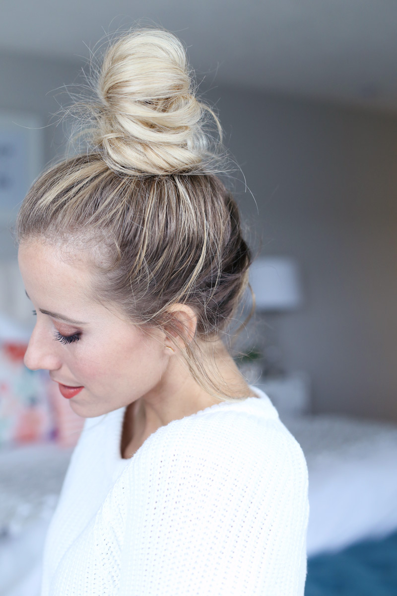 Well Liked Braided Top Knot Hairstyles Regarding How To French Braid Into A Top Knot – Twist Me Pretty (Gallery 17 of 20)