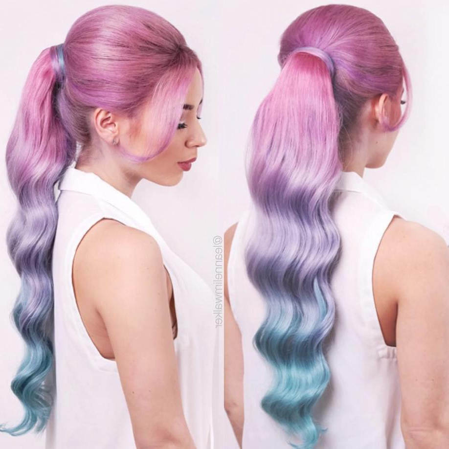 Well Liked Cotton Candy Colors Blend Mermaid Braid Hairstyles Regarding Fresh Cotton Candy Hair Color Gallery Of Hair Color (View 18 of 20)