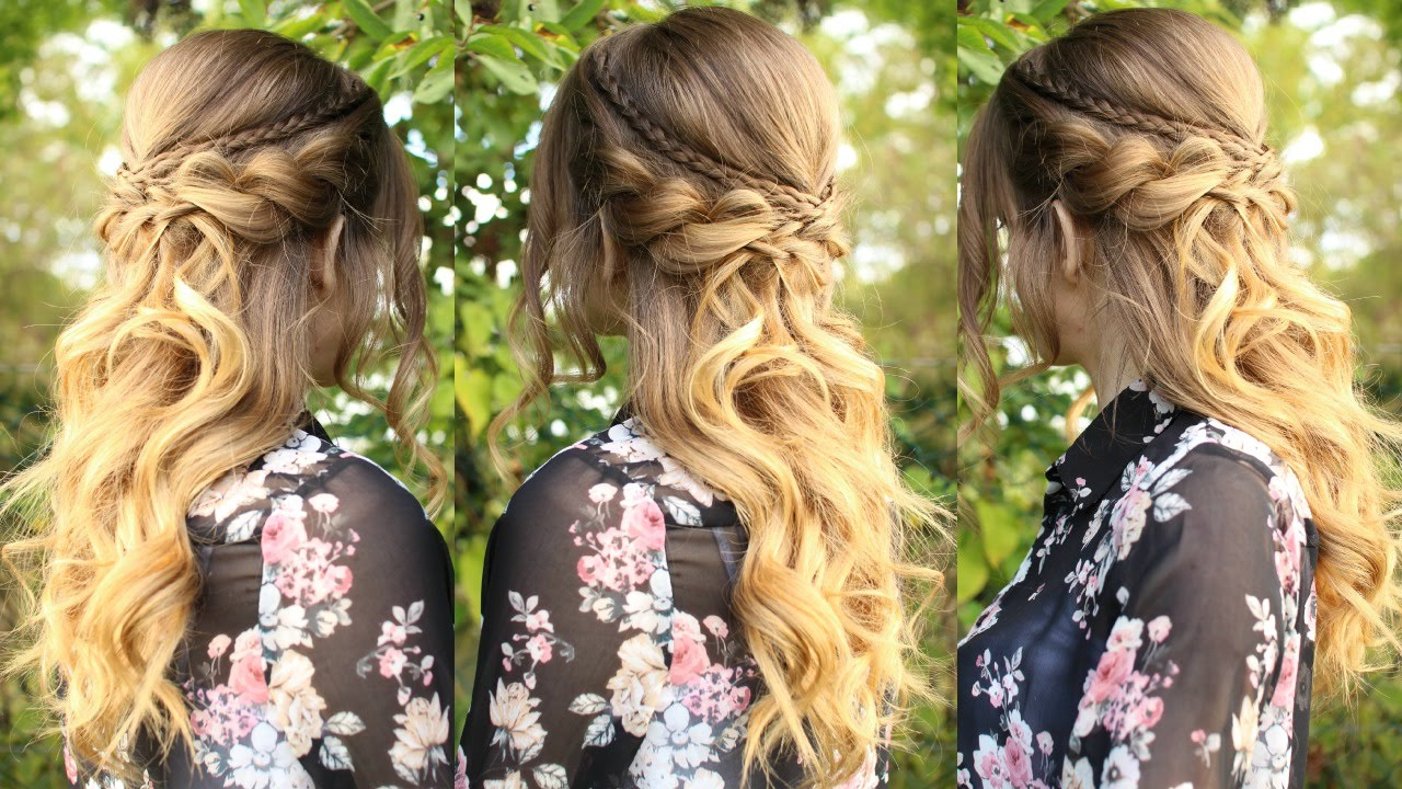 Well Liked Curled Half Up Hairstyles Within Romantic Half Up Half Down Hairstyle With Curls (Gallery 3 of 20)