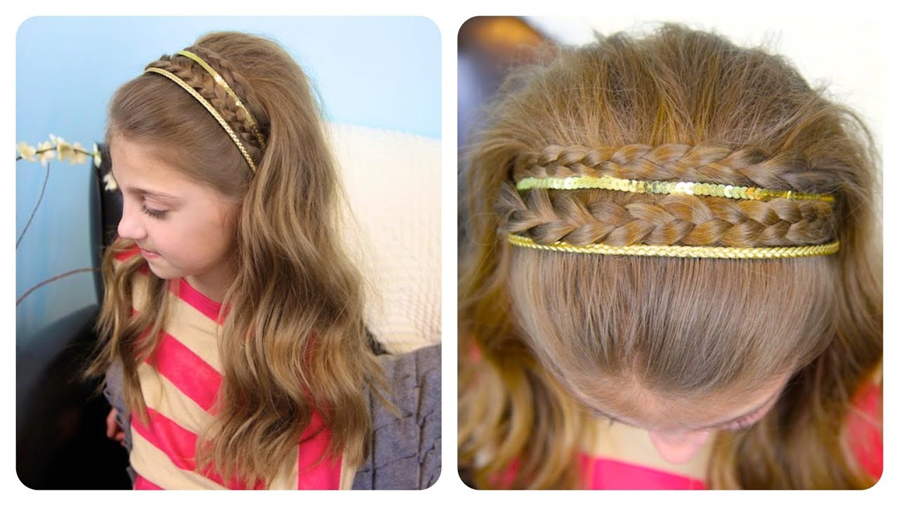 Well Liked Double Headband Braided Hairstyles With Flowers Inside Double Braid Sparkly Headband (Gallery 1 of 20)