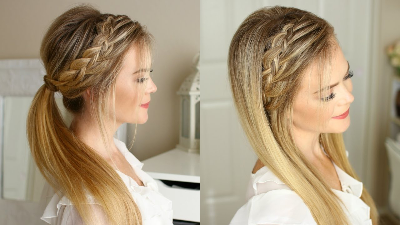 Well Liked Double Headband Braided Hairstyles With Flowers With Woven Headband Braid (View 17 of 20)