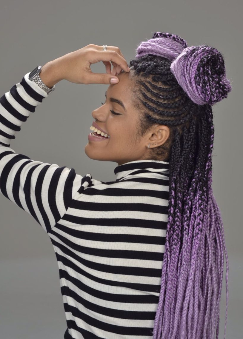 Well Liked Multicolored Extension Braid Hairstyles Throughout Pin On Box Braids & Ect. (Gallery 19 of 20)