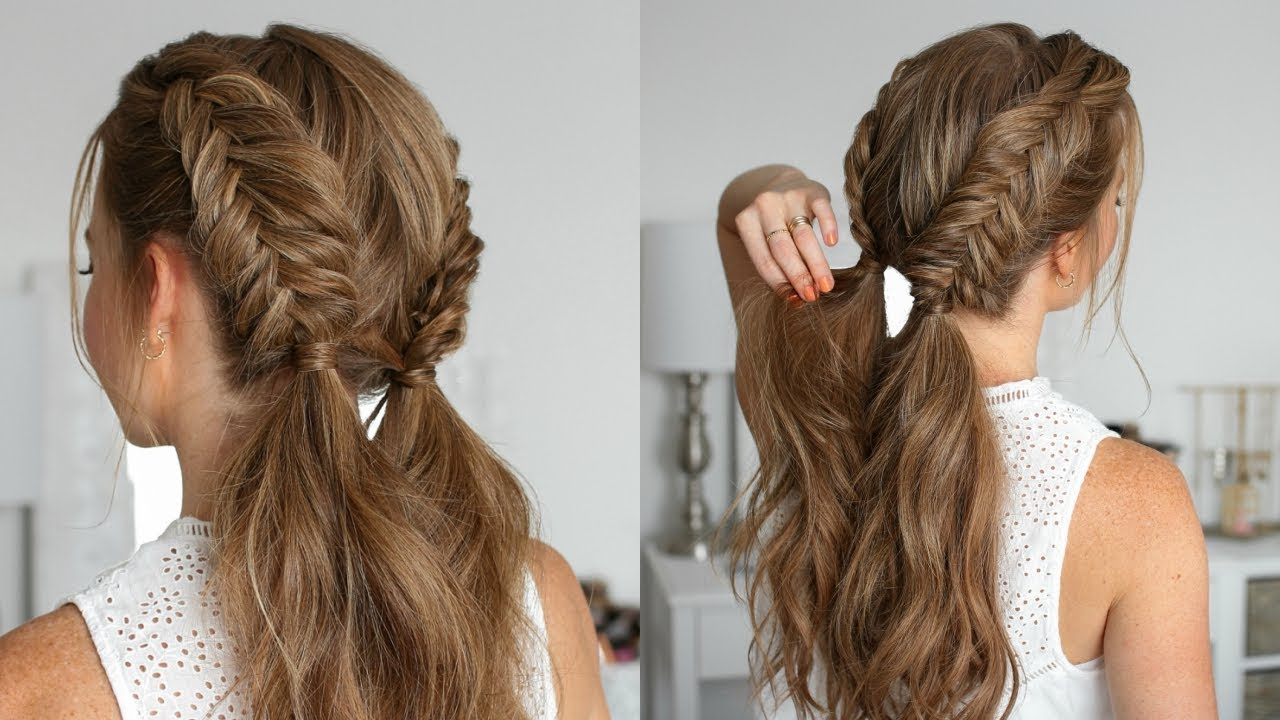 Well Liked Nostalgic Knotted Mermaid Braid Hairstyles For Double Dutch Fishtail Braids (View 5 of 20)