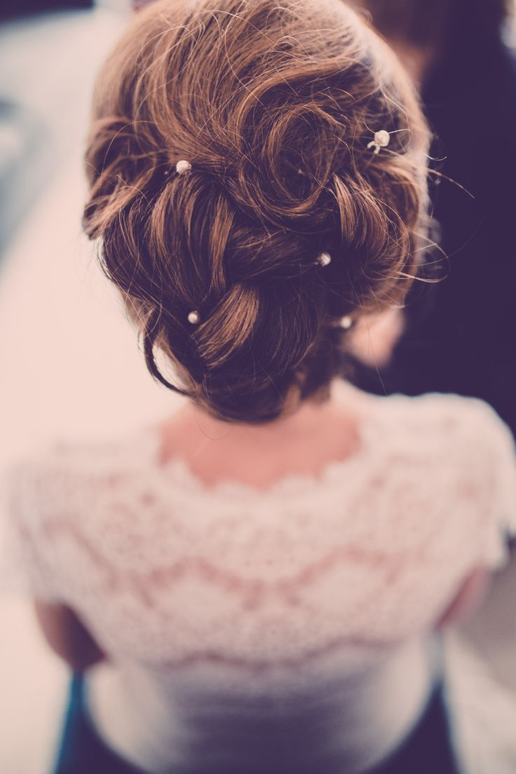 Well Liked Pearl Bun Updo Hairstyles Throughout Curled Bridal Updo With Pearl Hair Pins ~ We ❤ This (View 20 of 20)