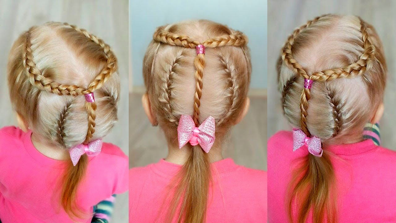 Well Liked Pink Rope Braided Hairstyles Intended For Combo Hairstyle: Dutch Braids, French Braids And Rope Twist / Little Girl Hairstyles (View 16 of 20)