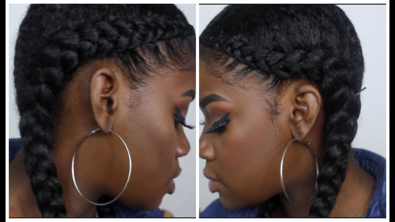 Well Liked Red Inward Under Braid Hairstyles Pertaining To Two Braid Tutorial (With Weave) (View 20 of 20)