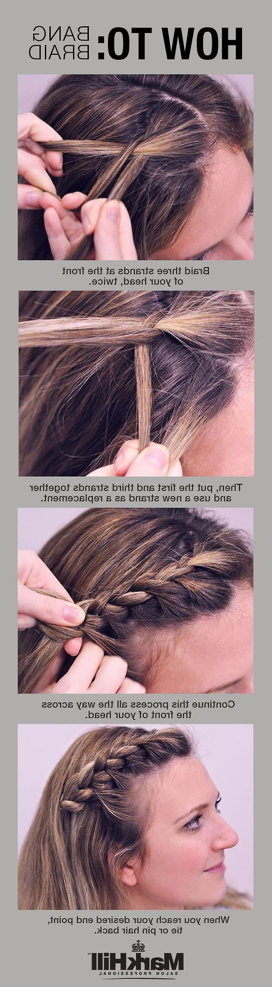 Well Liked Three Strand Long Side Braided Hairstyles Throughout How To: Bang Braid Very Simple Stepstep Instructions And (View 19 of 20)