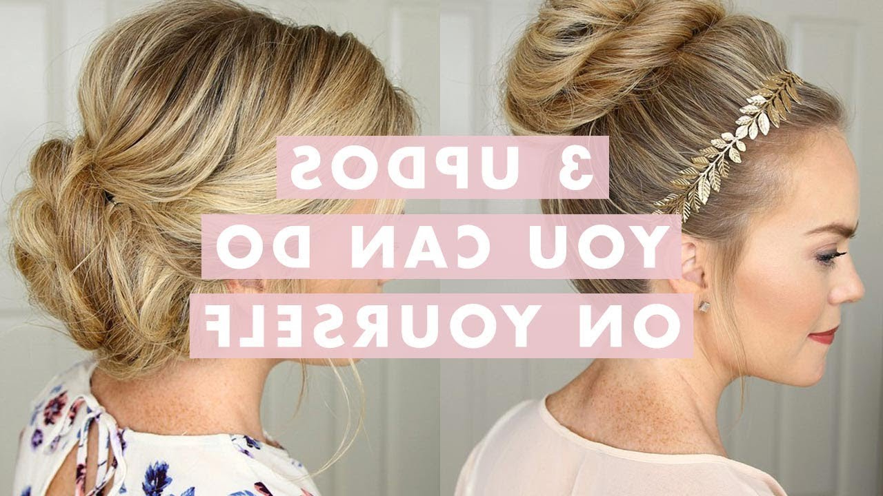Well Liked Tie It Up Updo Hairstyles Regarding 3 Stunning Updos That You Can Do On Yourself! (View 19 of 20)