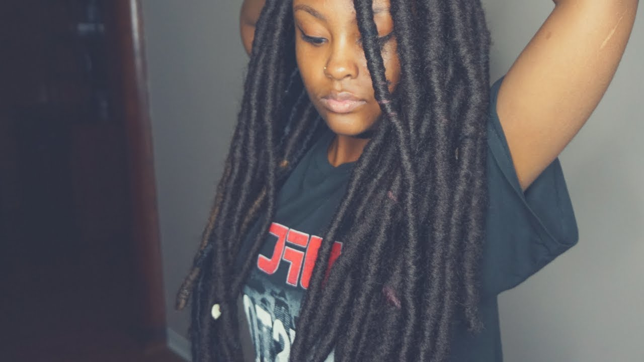 Well Liked Very Thick And Long Twists Yarn Braid Hairstyles With Butt Length Faux Locs – Rihanna Inspired Locs (Gallery 5 of 20)