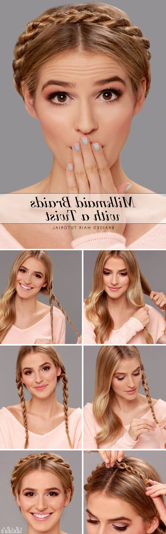 Well Liked Wide Crown Braided Hairstyles With A Twist Within 20 Cute Easy Milkmaid Braid For Long Hair & Medium Hair (View 17 of 20)