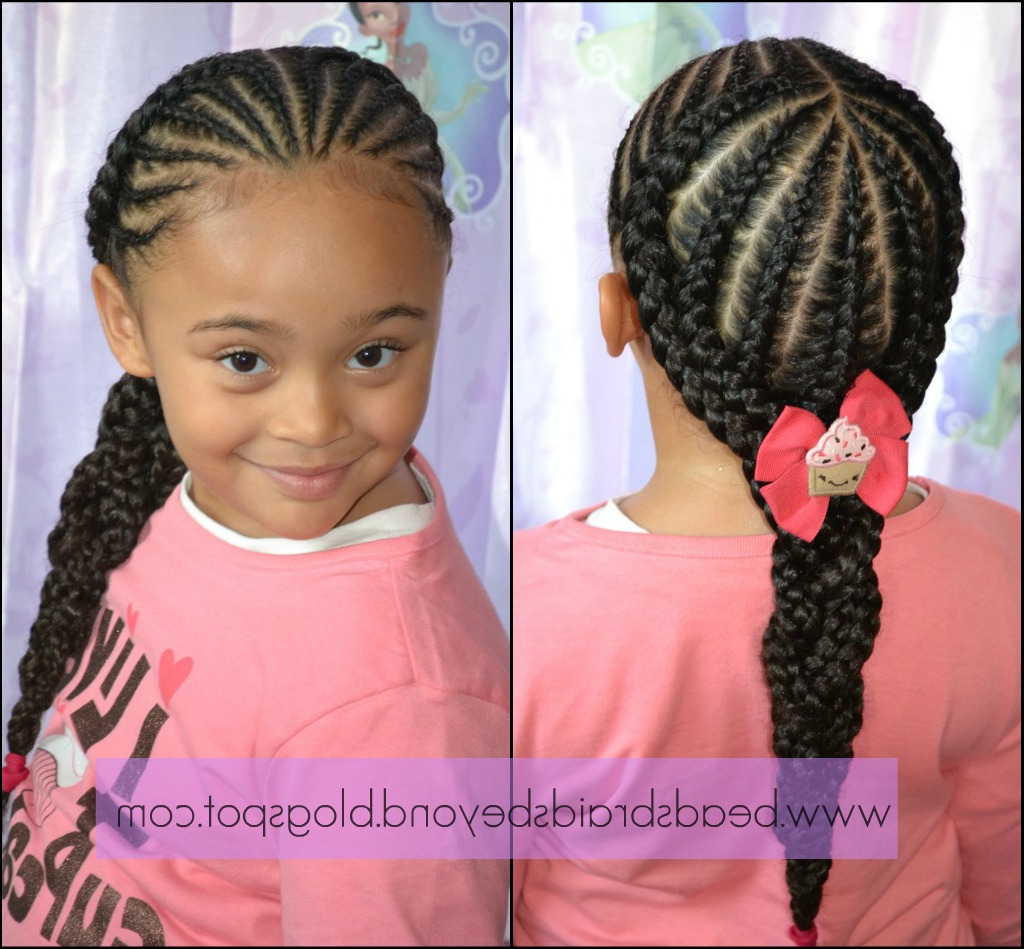 We're Back – In Style! Small Cornrows Into Large Cornrows Regarding 2019 Angled Cornrows Hairstyles With Braided Parts (View 18 of 20)