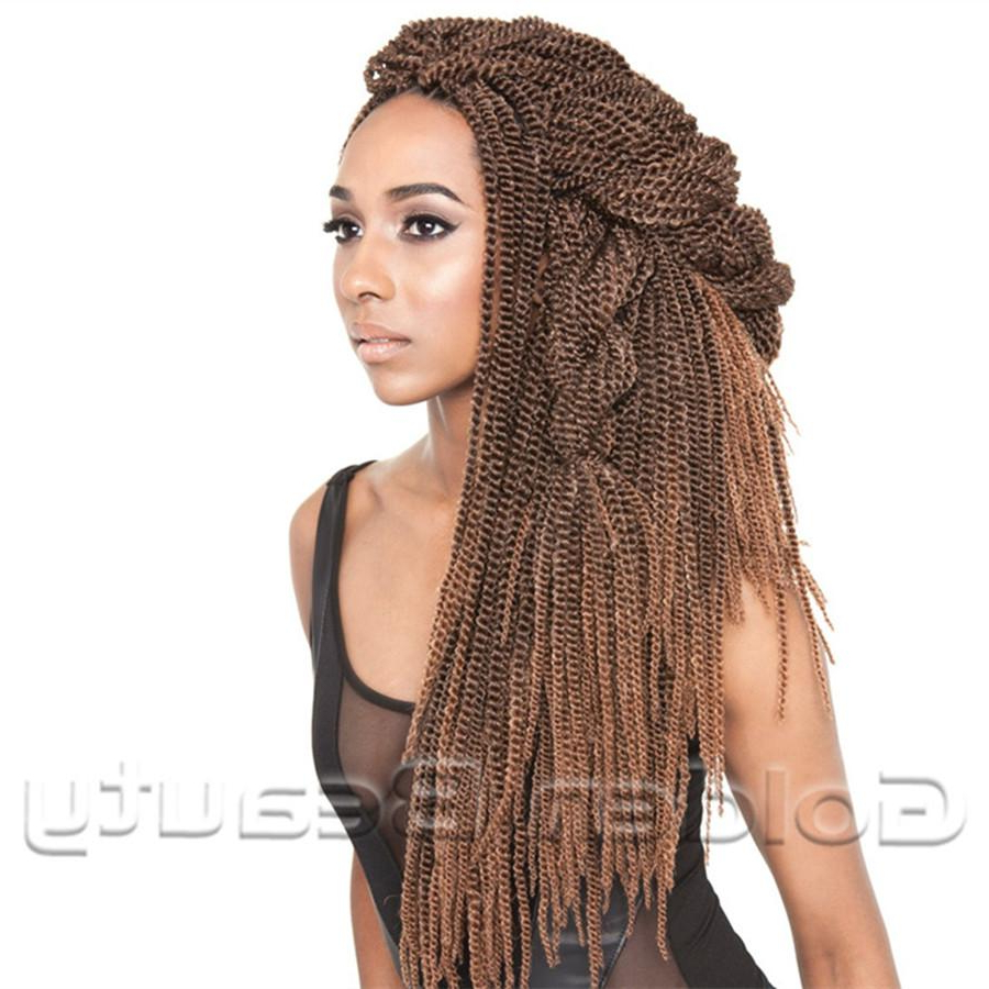 Wholesale  New Fashion Folded Senegalese Synthetic Hair Extension 18 Inch  Black Color Soul Twist Bulk Senegal Twist Braid Crochet Braids With Most Up To Date Black Twists Micro Braids With Golden Highlights (Gallery 12 of 20)