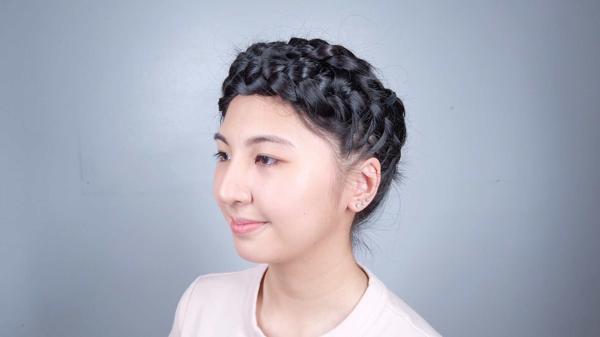 Widely Used Angled Braided Hairstyles On Crimped Hair In 3 Ways To Do Two French Braids – Wikihow (View 19 of 20)