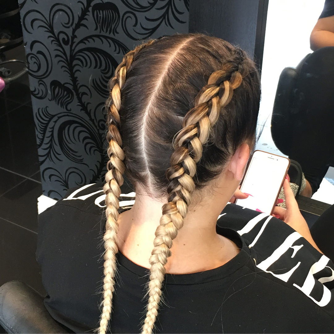 Widely Used Blonde Asymmetrical Pigtails Braid Hairstyles Throughout 99 Two Braids And You've Got It Made (Gallery 12 of 20)