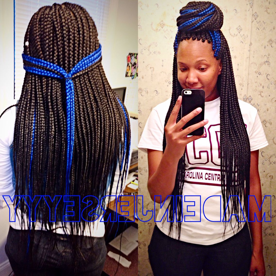 Widely Used Blue And Black Cornrows Braid Hairstyles With Regard To Pin On Hair (View 11 of 20)