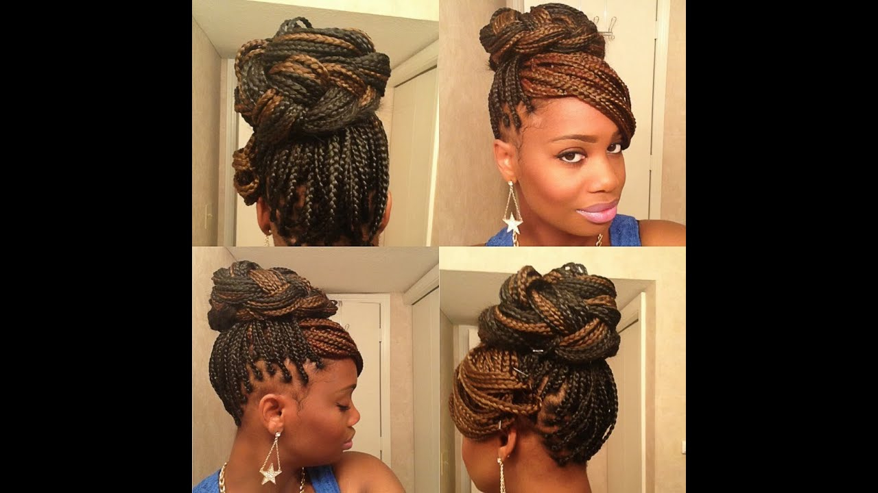 Widely Used Box Braids Bun Hairstyles In 3 Easy Styles For Box Braids (View 20 of 20)