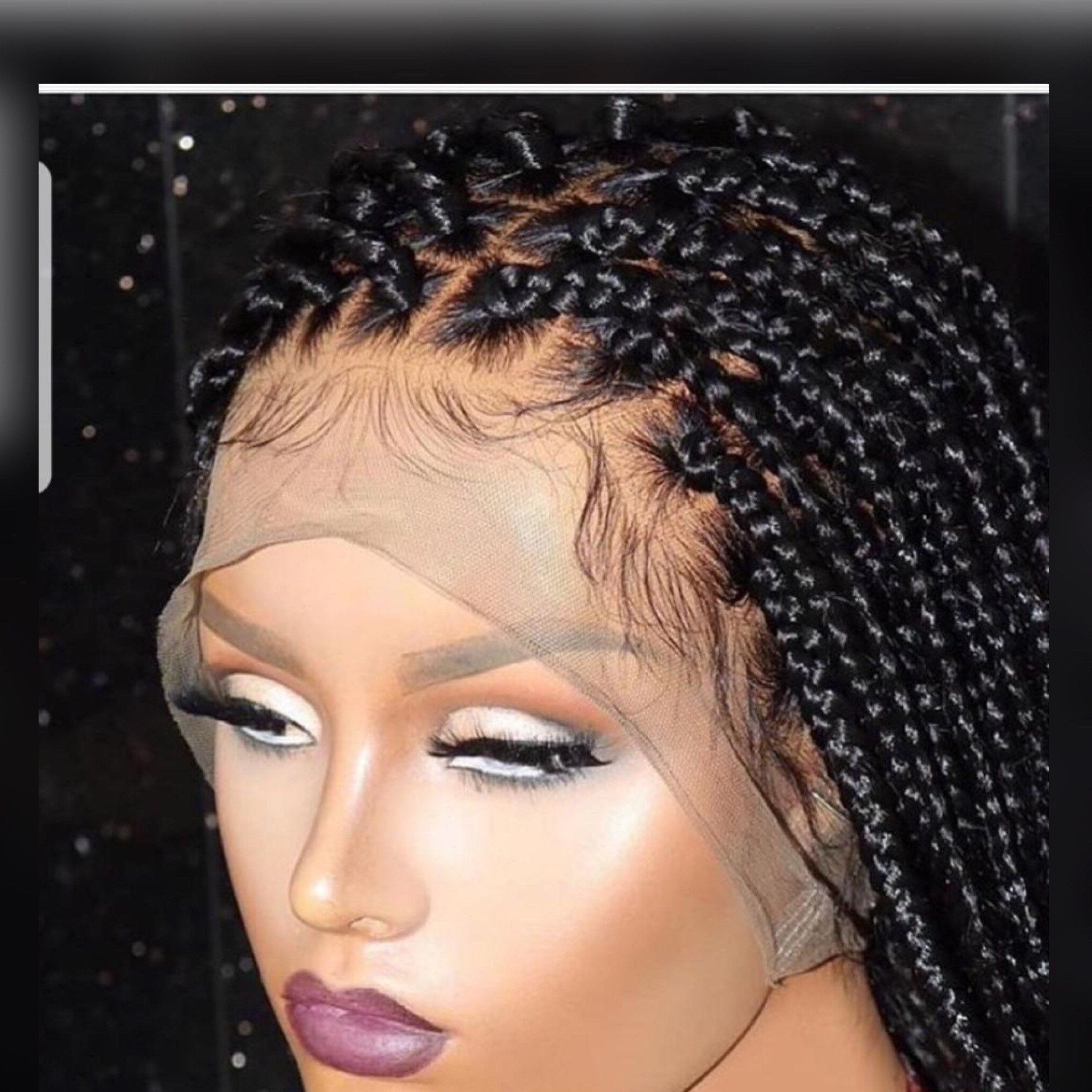 Widely Used Cleopatra Micro Braids In Box Braided Wigs Full Lace Front Wig Box Braids Wig Micro Braids Faux Locs Cute Braided Wigs For Black Women Braid Wig Cornrow Wig Passion (View 8 of 20)