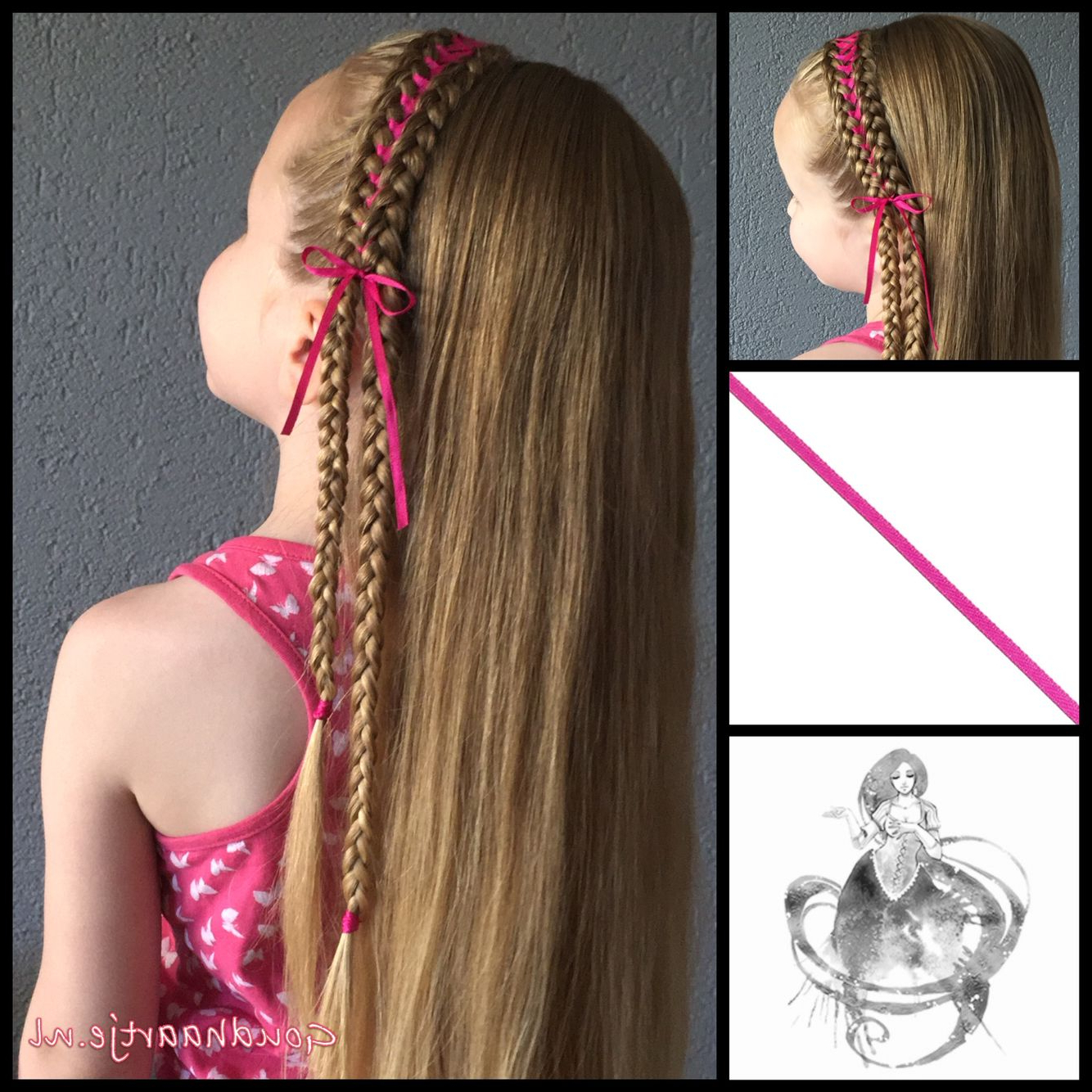 Widely Used Corset Braided Hairstyles Intended For Headband Corset Braid With A Small Ribbon From The Webshop (View 17 of 20)