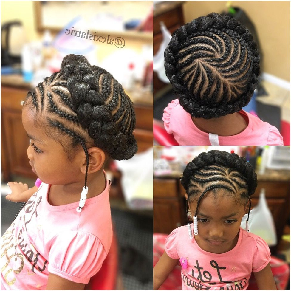 Widely Used Halo Braided Hairstyles With Beads Throughout Halo Braid Children Styles (View 15 of 20)