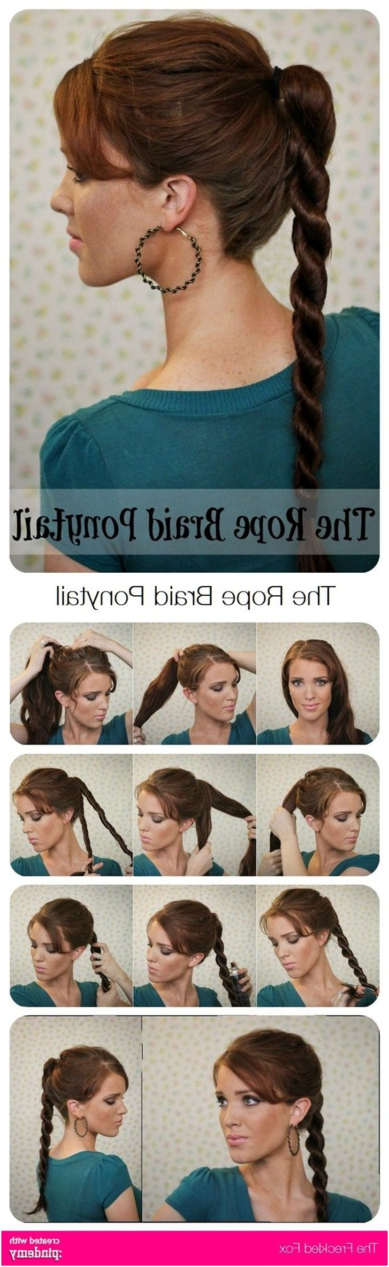 Widely Used High Rope Braid Hairstyles With 15 Cute & Easy Ponytails – Sure Champ (View 20 of 20)