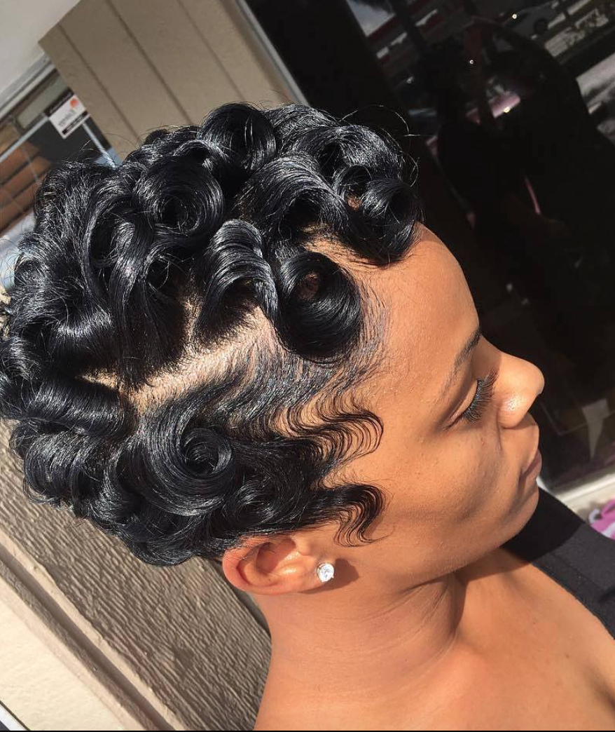 Widely Used Pinned Curls Hairstyles In Pinblack Hair Information – Coils Media Ltd On Short (Gallery 4 of 20)