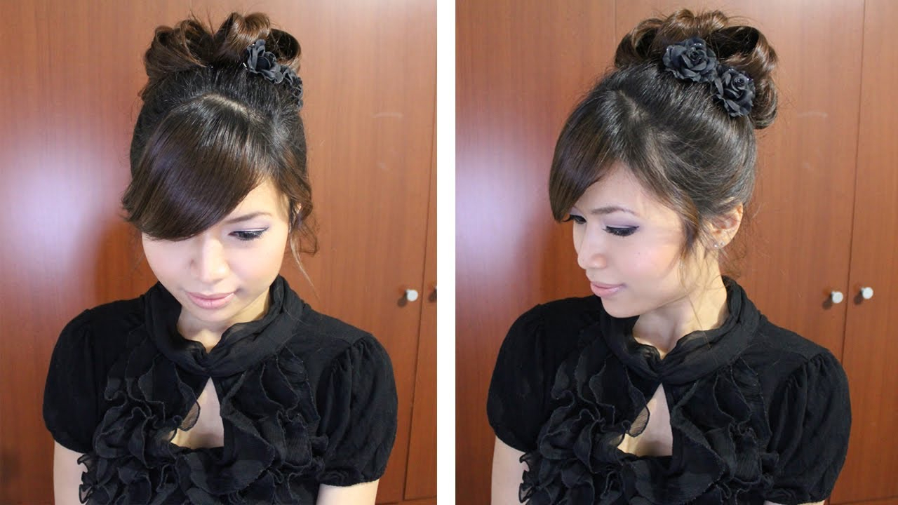 Widely Used Pinned Curls Hairstyles Intended For Classic Prom Hairstyle Updo Pin Curly Hair Tutorial (View 19 of 20)
