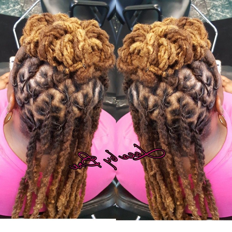 Widely Used Rope Twist Updo Hairstyles With Accessories With Regard To Rope Twist Loc Styles #locsbybre (View 15 of 20)