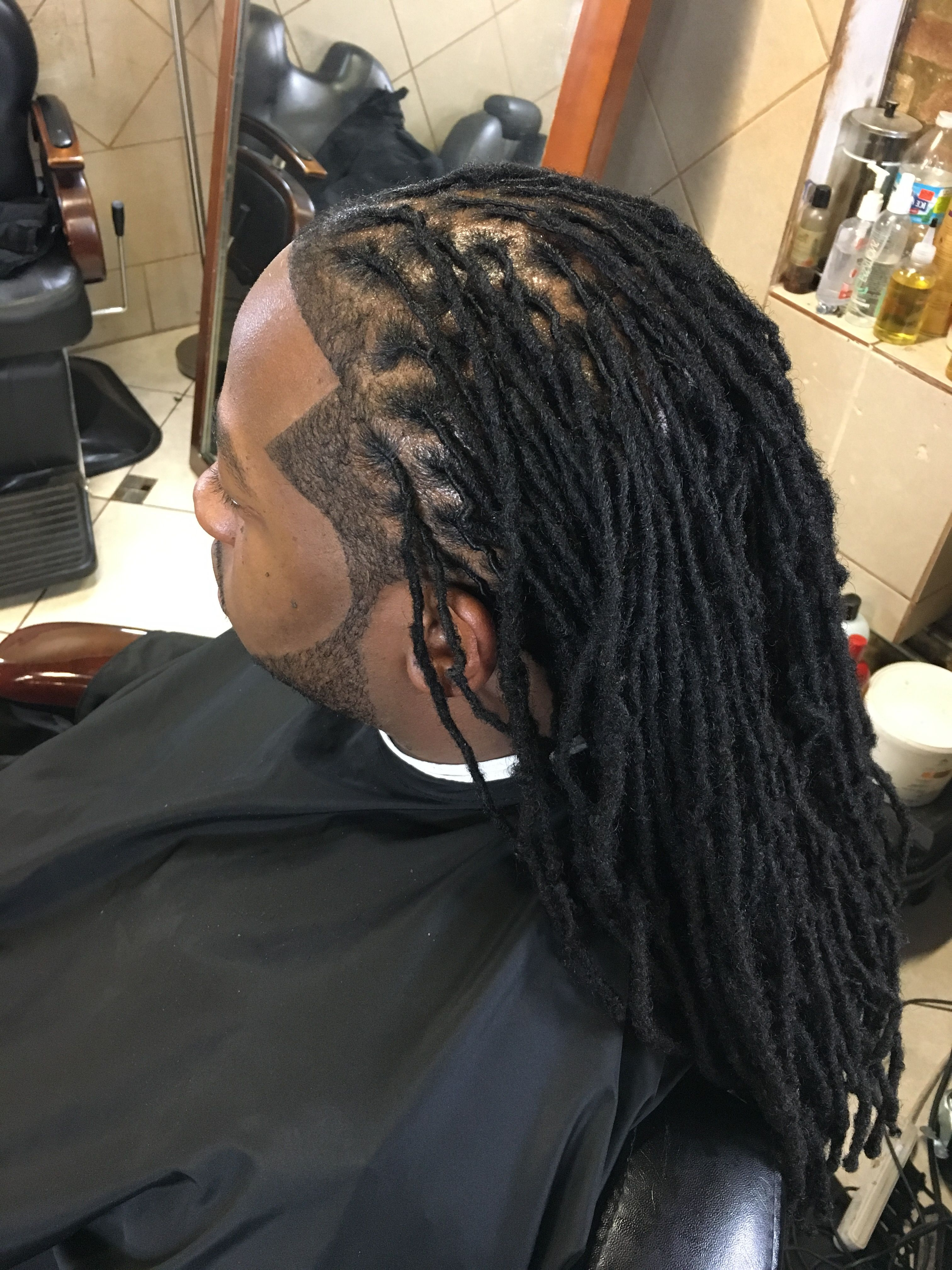 Widely Used Tightly Coiled Gray Dreads Bun Hairstyles In Fresh Maintenance With Crispy Lining #dreadlocs #dreadlocks (View 11 of 20)