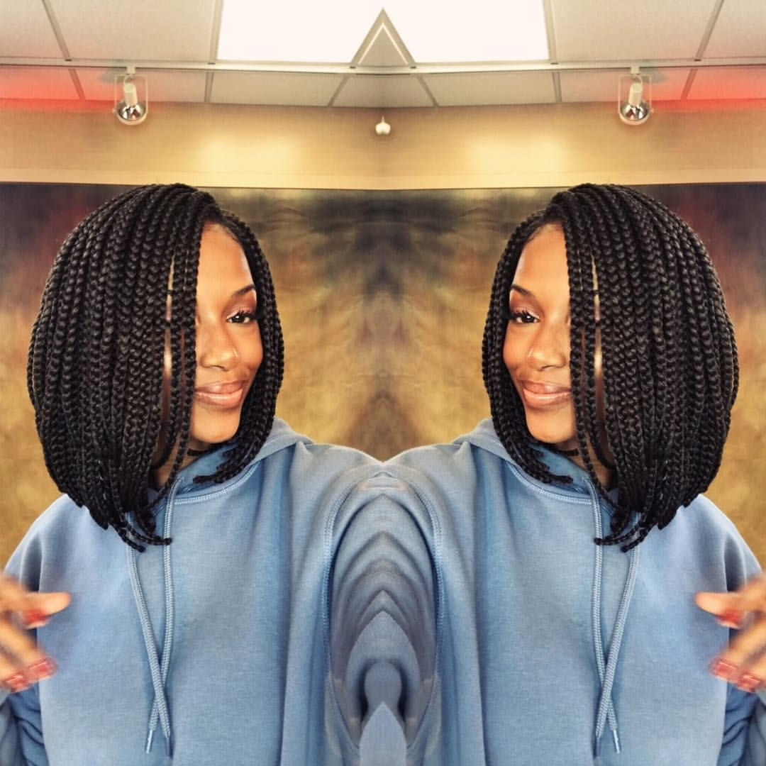 Would Wear A Box Braids Bob? If You Don't Have Time To Braid Inside Popular Dookie Braid Bump Hairstyles (View 5 of 20)