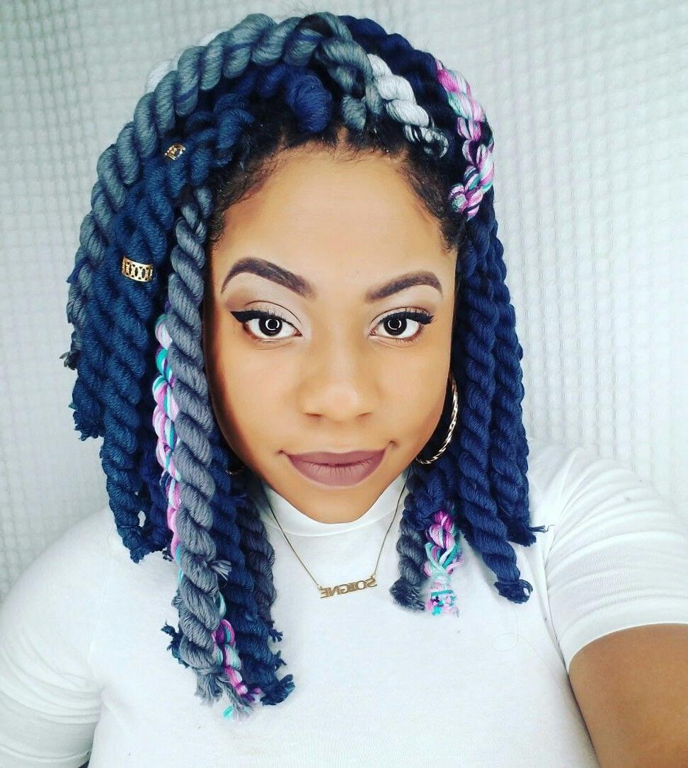 Yarn Braids Blue Yarn Braids Colorful Yarn Braids Box Braids In Fashionable Colorful Yarn Braid Hairstyles (Gallery 7 of 20)