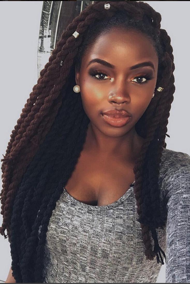 Yarn Twists Inspiration – Essence Regarding Popular Long Black Yarn Twists Hairstyles (View 10 of 20)