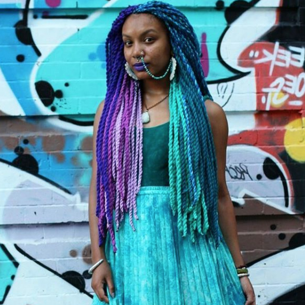 Yarn Twists Inspiration – Essence With Most Up To Date Long Braids With Blue And Pink Yarn (View 10 of 20)
