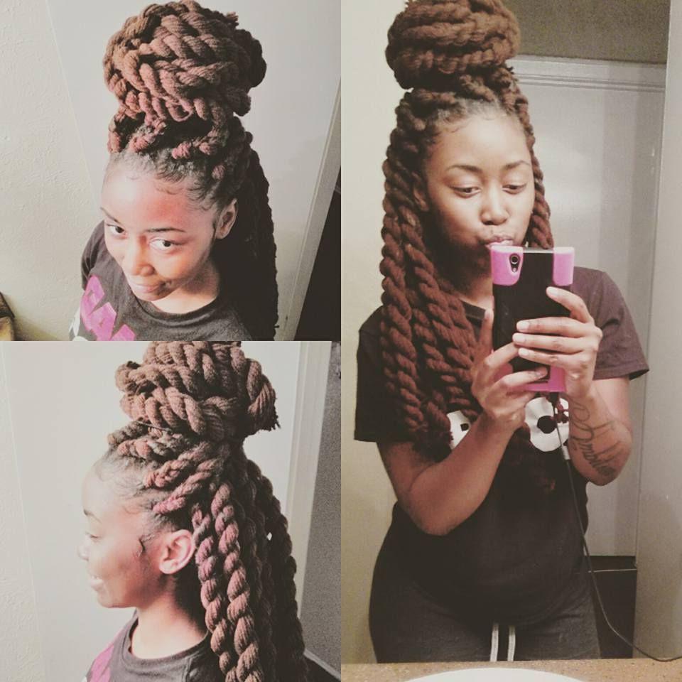 Yarn Wig With Trendy Jumbo Twists Yarn Braid Hairstyles (Gallery 2 of 20)