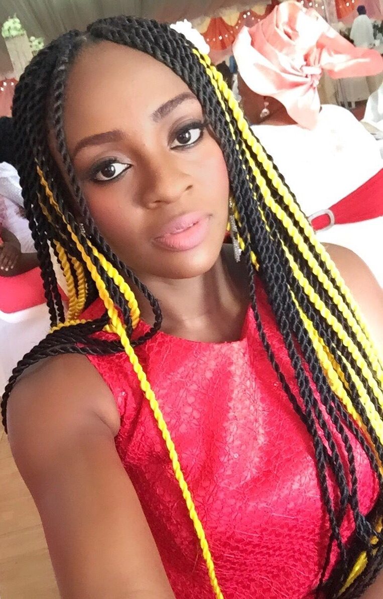 Yellow Colored Box Braids (View 2 of 20)